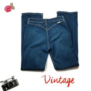 Vintage High Rise Western Jeans By Lawman